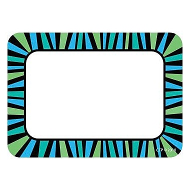 Creative Teaching Press™ Infant - 8th Grades Name Tag, Blue and Green Stripes