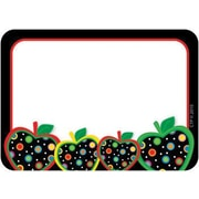 Creative Teaching Press™ Infant - 6th Grades Name Tag, Dots On Black Apple