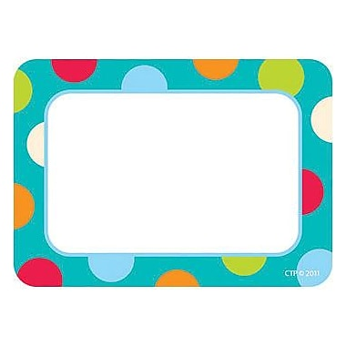 Creative Teaching Press™ Grades Name Tag, Dots On Turquoise