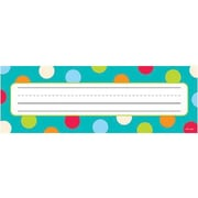 Creative Teaching Press™ Infant - 6th Grades Name Plate, Dots On Turquoise
