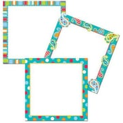 Creative Teaching Press Toddler - 12th Grades Designer Cut-Out Card Accents, Dots On Turquoise