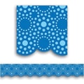 Creative Teaching Press™ pre-school - 12th Grades Scalloped Bulletin Board Border, Lots of Dots Blue