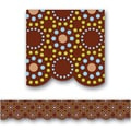 Creative Teaching Press™ pre-school-12th Grades Scalloped Bulletin Board Border, Lots of Dots Brown