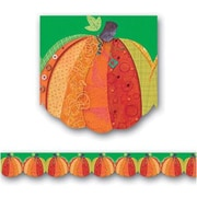 "Creative Teaching Press 6803 35' x 2.75"" Scalloped Pumpkin Harvest Border, Multicolor"