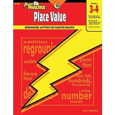 Creative Teaching Press™ Power Practice Place Value Math Book, Grades 3rd -4th