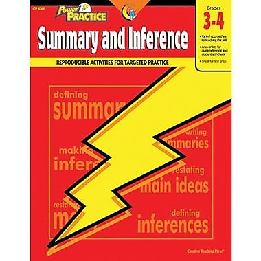 Creative Teaching Press™ Power Practice Summary and Inference Book, Grades 3rd - 4th