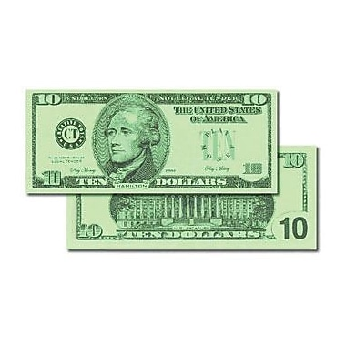 Learning Advantage™ $10 Bills Set Money, 100 Bills, Grades Kindergarten+