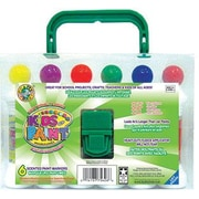 Crafty Dab Non-toxic Kids Paint With Carrying Case , 6/Pack (CV-75262)