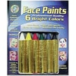 Crafty Dab Non-toxic Face Paint Crayons, 8/Bundle (CV-80032)