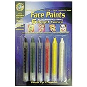 Crafty Dab Non-toxic Bright Face Paint Push-Ups, 6/Bundle (CV-80042)