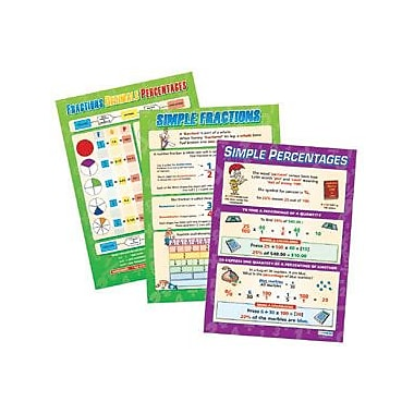 Daydream Education Poster Set, Fractions, Decimals and Percentages