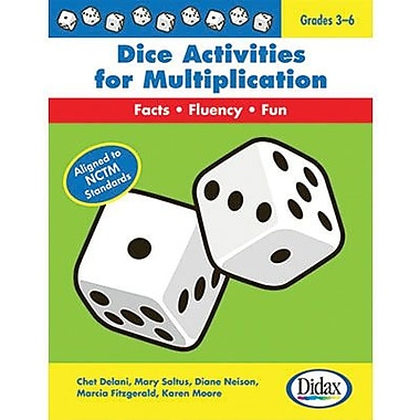 Didax® Dice Activities For Multiplication Resource Book, Grades 3rd - 6th