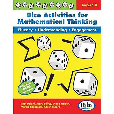 Didax® Dice Activities For Mathematical Thinking, Grades 5th - 8th