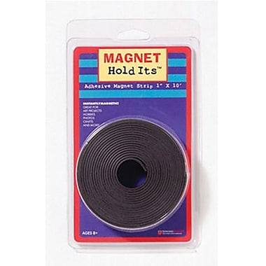 Dowling Magnets® Magnet Strip Roll With Adhesive, 1in. x 10'