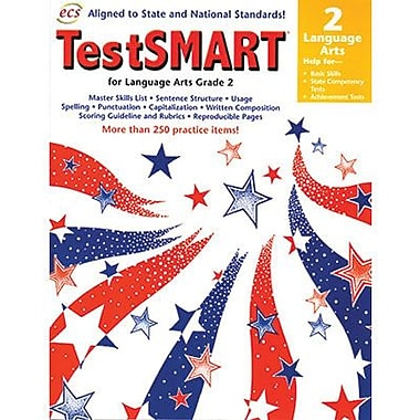ECS Learning Systems TestSMART® Language Arts Student Practice Book, Grades 2nd