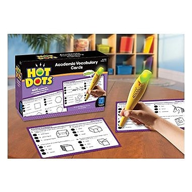 Educational Insights® Hot Dots Academic Vocabulary Card Set, Grades 1st - 3