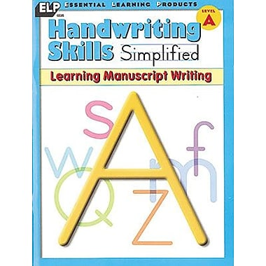 Essential Learning™ Handwriting Skills Simplified - Learning Manuscript Writing Book