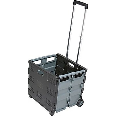 Early Childhood Resources® Universal Rolling Organizer Cart, Black/Grey