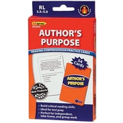 Edupress® Reading Comprehension Practice Card, Author's Purpose, Reading Level 3.5 - 5.0