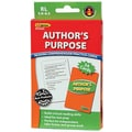 Edupress® Reading Comprehension Practice Card, Author's Purpose, Reading Level 5.0 - 6.5