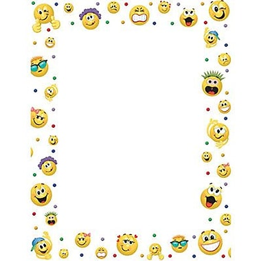 Eureka® 8 1/2in. x 11in. Emoticons Computer Paper