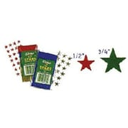 "Eureka® 1/2"" Stars Stickers, Silver Foil"