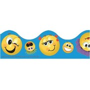 Eureka® Pre School - 12th Grades Scalloped Deco Trim, Emoticons