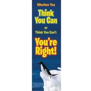 Eureka® 4th - 8th Grades Jumbo Banner, Whether You Think You Can