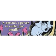 "Eureka Dr. Seuss 849666 45"" x 12"" Straight Motivational Classroom Banner, Multicolor"