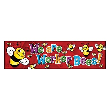 Eureka® Pre School - 6th Grades Colorful Classroom Banner, Bee A Worker Bee