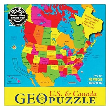 Geotoys™ USA & Canada Geopuzzle, Grades Preschool - 9th
