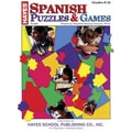 Hayes® Spanish Puzzles & Games Book, Grades 6th - H