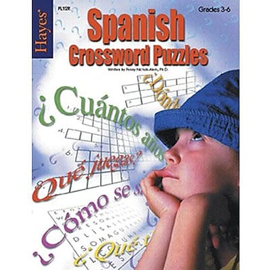 Hayes® Spanish Crossword Puzzles Book, Grades 3rd - 6th