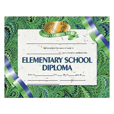 Hayes® Elementary School Diploma Certificate, 8.5in.(L) x 11in.(W)