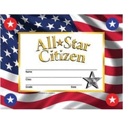 "Hayes® All-Star Citizen Reward Certificate and Seals, 8.5""(L) x 11""(W)"
