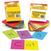 "Hygloss® Pocket Card Set, Rainbow Bright, 3"" x 3"""
