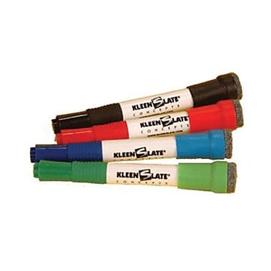 Kleenslate Concepts® Attachable Eraser For Large Barrel, 4/Pack