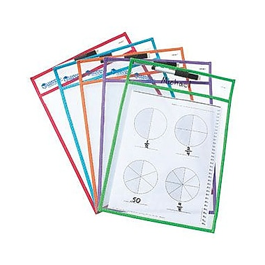 Learning Resources® Write and Wipe Pockets, 14in.(H) x 10in.(L)