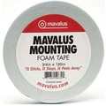 Mavalus MAVFOAM3410 0.75in. x 120in. Double-Sided Foam Tape, White