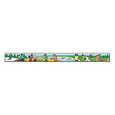 North Star Teacher Resources® pre-school - 5th Grades Straight Bulletin Board Trim, Physical Fitness