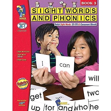 On The Mark Press® Sight Words & Phonics Book 3rd