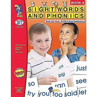 On The Mark Press® Sight Words and Phonics Book, Grades Pre Kindergarten -1st