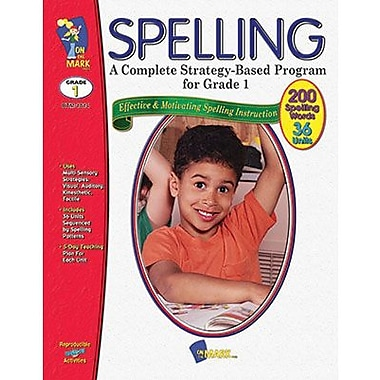 On The Mark Press® Complete Strategy Based Program Spelling Book, Grades 1st