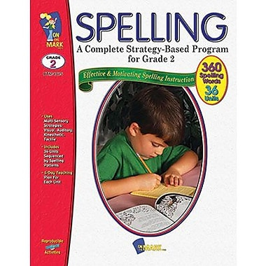 On The Mark Press® Complete Strategy Based Program Spelling Book, Grades 2nd