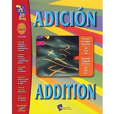 On The Mark Press® Adicion/Addition Spanish/English Book, Grades 1st - 3rd