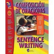 On The Mark Press® Composicion De Oraciones/Sentence Writing Spanish/English Book, Grades 1st - 3rd