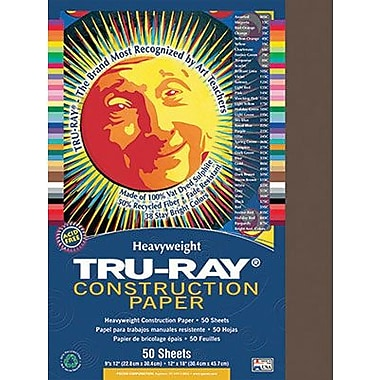 Pacon® Tru-Ray® Sulphite Construction Paper, Dark Brown, 12in.(W) x 18in.(L), 50 Sheets