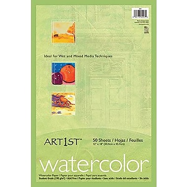 Pacon® Art1st® Watercolor Paper, White, 18in.(W) x 12in.(H), 50 Sheets