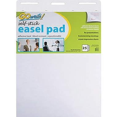 Pacon® GoWrite!® Self-Stick Easel Pads, 34in.(H) x 27in.(W)
