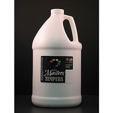 Little Masters Non-toxic 128 oz. Tempera Paint, White (RPC204705)